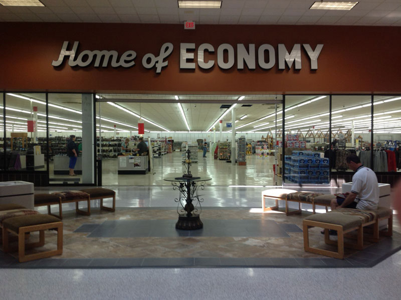 The New Mall Entrance for Home of Economy in Jamestown